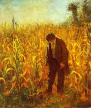 "Репродукция картины ""Man in a Cornfield"" художника ""Джонсон Истмен"""