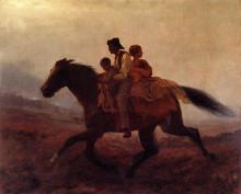 """Репродукция картины """"A Ride for Freedom - The Fugitive Slaves"""" художника """"Джонсон Истмен"""""""