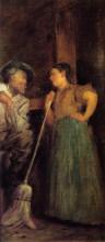 "Репродукция картины ""A Rustic Courtship"" художника ""Джонсон Истмен"""