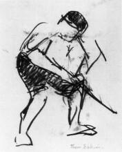 "Картина ""Drawing of a Workman"" художника ""Икинс Томас"""