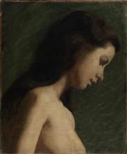 "Картина ""Study of a Girl's Head"" художника ""Икинс Томас"""