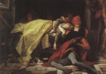 "Репродукция картины ""Death of Francesca da Rimini and Paolo Malatesta"" художника ""Кабанель Александр"""