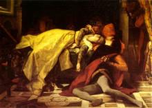 "Копия картины ""the death of francesca de rimini and paolo malatesta"" художника ""кабанель александр"""