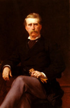 "Репродукция картины ""Portrait of John William Mackay"" художника ""Кабанель Александр"""