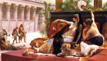 "Репродукция картины ""Cleopatra Testing Poisons on Those Condemned to Death"" художника ""Кабанель Александр"""