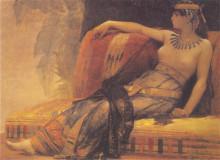 "Репродукция картины ""Cleopatra, preparatory study for 'Cleopatra Testing Poisons on the Condemned Prisoners'"" художника ""Кабанель Александр"""