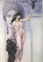 "Картина ""allegory of sculpture"" художника ""климт густав"""