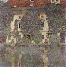 "Картина ""the schloss kammer on the attersee, iii"" художника ""климт густав"""