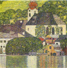 "Картина ""church in unterach on the attersee"" художника ""климт густав"""