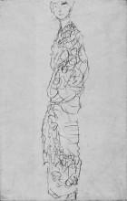 """Копия картины """"standing woman in kimono (dame im kimono)"""" художника """"климт густав"""""""