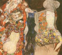 """Копия картины """"the bride (unfinished)"""" художника """"климт густав"""""""