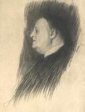 """Копия картины """"Portrait of a man heading left"""" художника """"Климт Густав"""""""