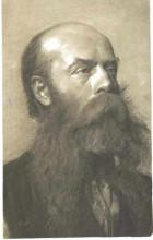 "Картина ""Portrait of a man with beard in three quarter profil"" художника ""Климт Густав"""