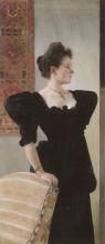 """Копия картины """"portrait of marie breunig"""" художника """"климт густав"""""""