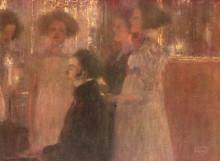 "Копия картины ""schubert at the piano i"" художника ""климт густав"""