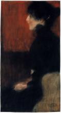 """Копия картины """"portrait of a lady"""" художника """"климт густав"""""""
