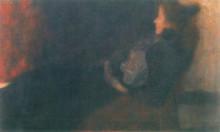 """Картина """"lady by the fireplace"""" художника """"климт густав"""""""