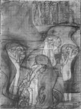 "Картина ""Painted composition draft Jusisprudenz"" художника ""Климт Густав"""
