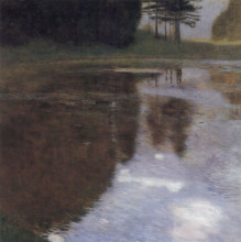 "Картина ""quiet pond in the park of appeal"" художника ""климт густав"""