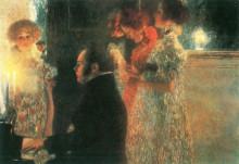 "Копия картины ""Schubert at the Piano II"" художника ""Климт Густав"""
