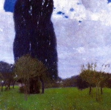 "Картина ""The Tall Poplar Trees II"" художника ""Климт Густав"""