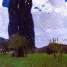 "Копия картины ""the tall poplar trees ii"" художника ""климт густав"""