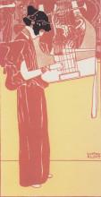 """Репродукция картины """"musik (lithograph)"""" художника """"климт густав"""""""