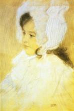 """Репродукция картины """"Portrait of a Girl"""" художника """"Климт Густав"""""""