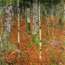 "Копия картины ""Farmhouse with Birch Trees"" художника ""Климт Густав"""