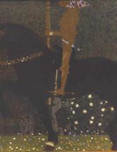 "Картина ""The Golden Knight"" художника ""Климт Густав"""