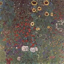 """Репродукция картины """"Country Garden with Sunflowers"""" художника """"Климт Густав"""""""