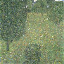 """Репродукция картины """"landscape garden (meadow in flower)"""" художника """"климт густав"""""""