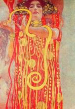 "Копия картины ""university of vienna ceiling paintings (medicine), detail showing hygieia"" художника ""климт густав"""
