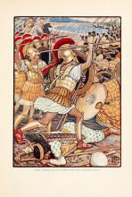 "Репродукция картины ""They crashed into Persian army with tremendous force"" художника ""Крейн Уолтер"""
