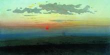 """Репродукция картины """"закат в степи"""" художника """"куинджи архип"""""""
