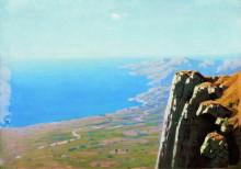 "Картина ""Берег моря со скалой"" художника ""Куинджи Архип"""