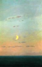 "Копия картины ""Лунный серп на фоне заката"" художника ""Куинджи Архип"""
