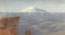 "Копия картины ""туман в горах. кавказ"" художника ""куинджи архип"""