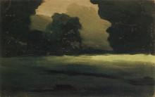 """Репродукция картины """"поляна в лесу. туман"""" художника """"куинджи архип"""""""