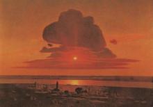 """Картина """"красный закат"""" художника """"куинджи архип"""""""