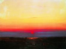 """Копия картины """"закат в степи на берегу моря"""" художника """"куинджи архип"""""""