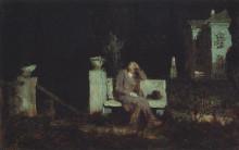 "Картина ""Лунная ночь. Раздумье"" художника ""Куинджи Архип"""