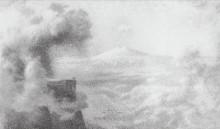 "Копия картины ""Горы и облака"" художника ""Куинджи Архип"""