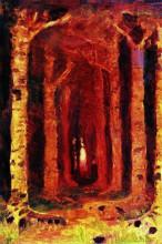 """Копия картины """"закат в лесу"""" художника """"куинджи архип"""""""