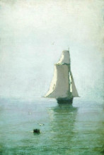 """Копия картины """"море с парусным кораблем"""" художника """"куинджи архип"""""""