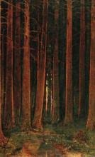 """Картина """"закат солнца в лесу"""" художника """"куинджи архип"""""""
