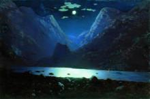 """Копия картины """"Дарьяльское ущелье. Лунная ночь"""" художника """"Куинджи Архип"""""""