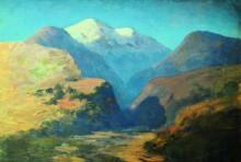"""Копия картины """"снежные вершины гор. кавказ."""" художника """"куинджи архип"""""""
