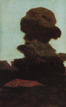 "Картина ""Дерево на фоне вечернего неба"" художника ""Куинджи Архип"""