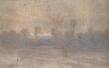 "Репродукция картины ""зима. туман"" художника ""куинджи архип"""
